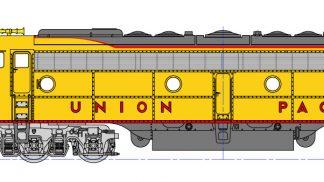 176-5318 Union Pacific EMD E9A Locomotive Nose Herald 962 176-5318 Union Pacific EMD E9A Locomotive Nose Herald 962xx