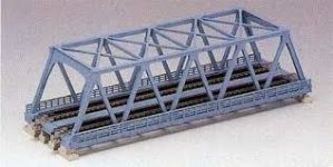 20-436 Double Truss Bridge, 248mm Light Blue