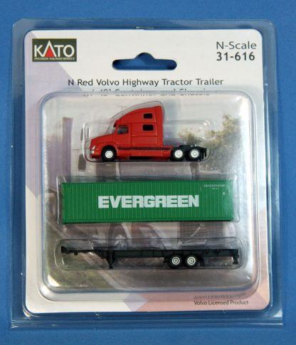 31-616 Volvo Highway Tractor Trailer w/ 40' Container and Chassi